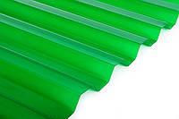 Шифер ПВХ Salux WHR 70/18 зеленый трапеция