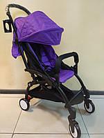 Детская коляска YOYA 175 А+ Purple, 3 ярусный капор, Оксфорд, легкая, компактная Йойа фиолетовая