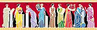 Схема для бисера Греческие богини (а2)