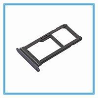 Лоток (держатель) сим карты для Samsung G935FD Galaxy S7 Edge Duos (на 2 Sim) (Black) Original