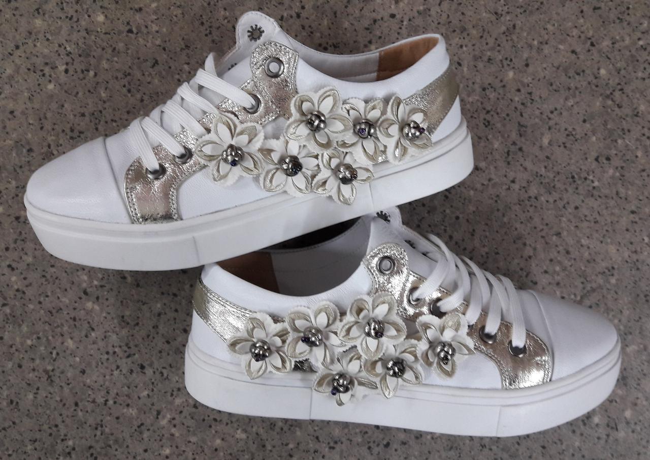 877ccc58 Женские кожаные кеды белые с цветочками реплика Gucci - ГЛЯНЕЦ |  Интернет-магазин КОЖАНОЙ обуви