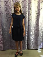 Легкий синий сарафан для девочки 8,10,14,16 л, фото 1