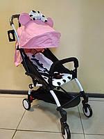 Детская коляска YOYA 175 A+ Minnie Mouse Pink, 3 ярусный капор, легкая, складная, компактная Йойа Минни маус