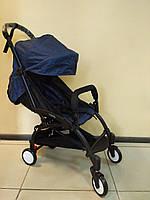 Детская коляска YOYA 175 Blue, 3 ярусный капор, легкая, складная, компактная Йойа синяя