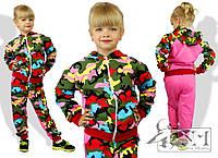Яркий спортивный костюм для девочки, размер 98, 104, 110, 116. Ткань двунитка