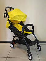 Детская коляска YOYA 175 Yellow, 3 ярусный капор, легкая, складная, компактная Йойа желтая
