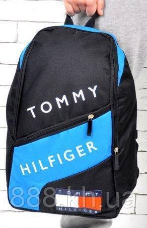 Рюкзак TOMMY HILFIGER, рюкзак томи хилфигер голубой,  не оригинал