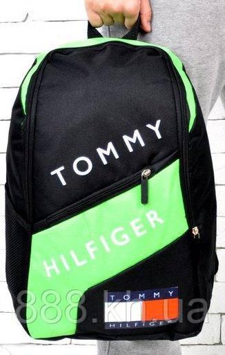 Рюкзак TOMMY HILFIGER, рюкзак томи хилфигер салатовый, не оригинал