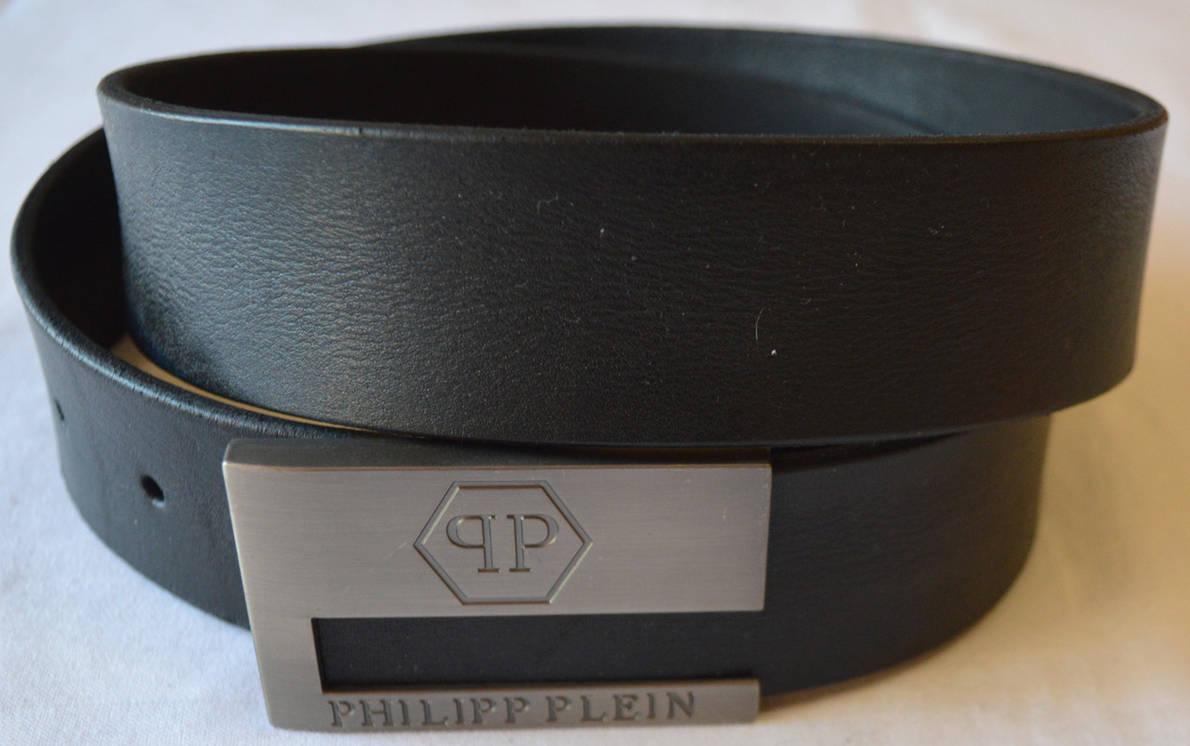 Черный мужской ремень PHILIPP PLEIN|26-1 (копия), фото 2