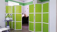 Ширмы на 3 секции для кабинета офтальмолога.