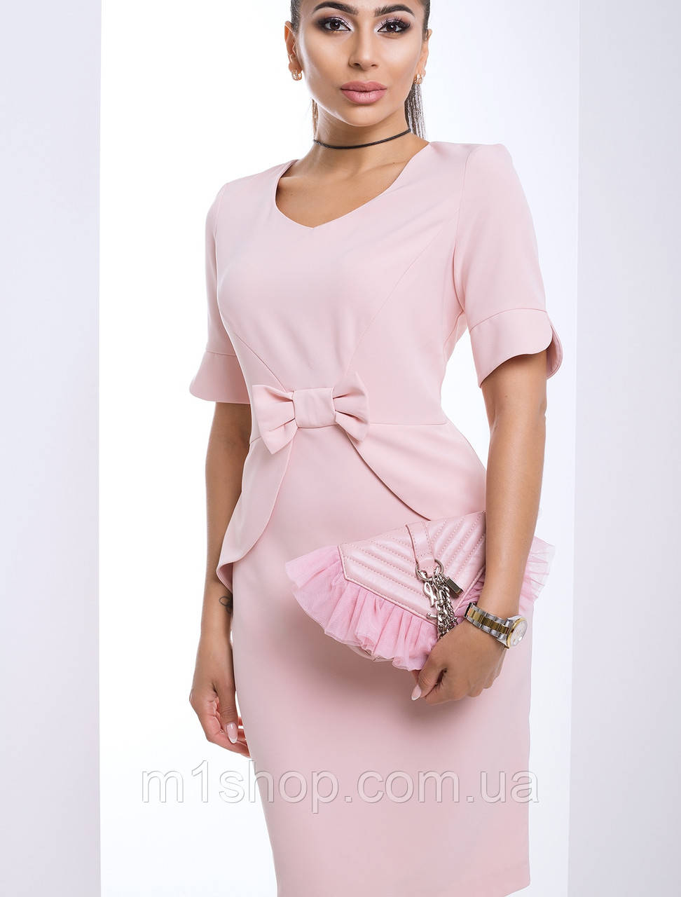 Элегантное платье с бантом спереди (Регина lzn)