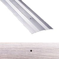 Профиль для пола алюминиевый Лугалпроф 11-А 0.9 м 3х80 мм Дуб пепельный