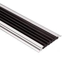 Профиль с резиновой вставкой 17-А 0.9 м 6х60 мм серебро