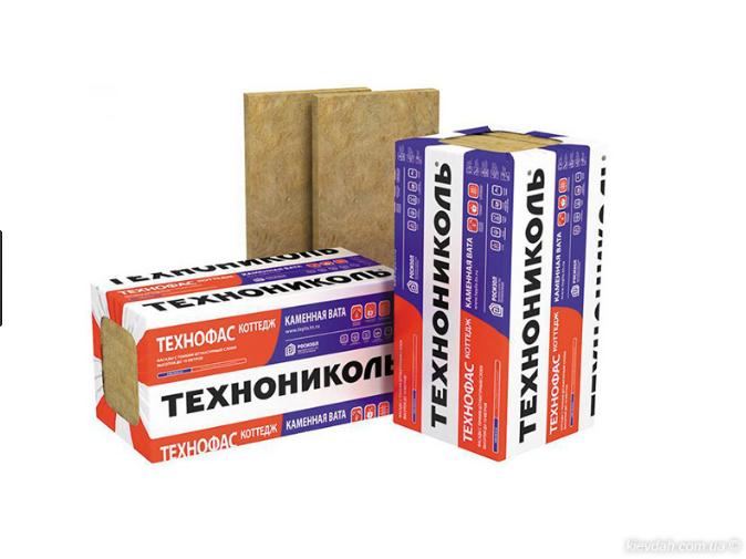 ТЕХНОФАС 50мм, 145 кг/м3, 2,88 кв.м. базальтовый утеплитель Техноникол