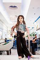 """Детские стильные брюки авторской коллекции 1602-39 """"Коттон Клёш"""""""