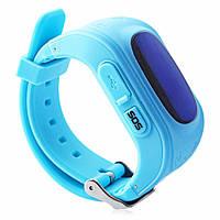 Детские смарт-часы Q50 с GPS трекером голубые