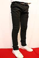 Осенние школьные котоновые брюки черного цвета, для подростков от 8-16 лет(122-176см) Фирма-Smile. Польша