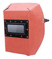 Маска сварщика фибра-картон 1,0мм  красная, фото 1