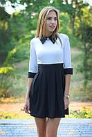 Платье школьное модное с воротником и брошкой  арт.361, фото 1