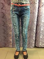 Рваные джинсы для девочки подростка