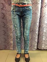 Рваные джинсы для девочки подростка 134,140,158 см