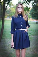 Платье школьное модное с поясом  арт.419