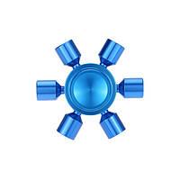 Спиннер металл синий звезда Антистресс Hand Spinner