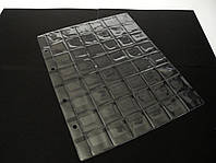 Лист для монет формат А4 200*250 мм на 48 ячеек, фото 1