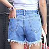 Короткие джинсовые шорты AL7769, фото 2