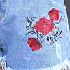 Короткие джинсовые шорты AL7769, фото 3