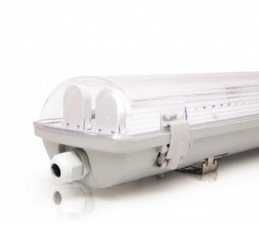 Светодиодный LED светильник 18W 4000К IP65 (2*600мм) промышленный герметичный (с лампами)