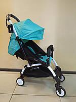 Детская коляска YOYA 175 Tiffany, 3 ярусный капор, легкая, складная, компактная Йойа мятная