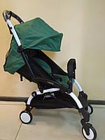 Детская коляска YOYA 175 Green, 3 ярусный капор, легкая, складная, компактная Йойа зеленая