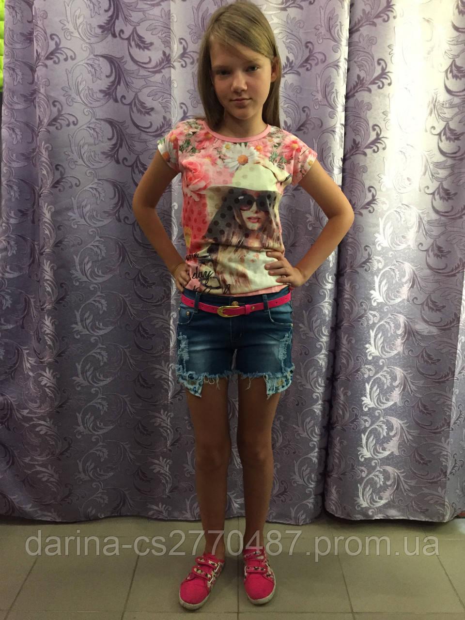 Джинсовые рваные шорты на девочку