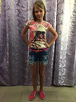 Джинсовые рваные шорты на девочку, фото 1