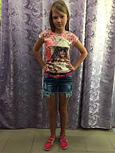 Джинсовые рваные шорты на девочку 146,158 см