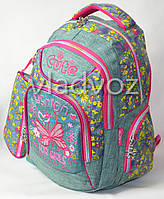 Школьный рюкзак для девочки с пеналом Fashion серый