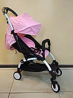 Детская коляска YOYA 175 light pink, 3 ярусный капор, легкая, складная, компактная Йойа нежно розовая