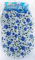"""Силиконовые коврики для ванной на присосках """"Синие розы"""""""