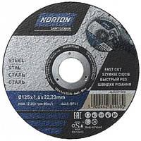 Круг отрезной Norton A46S 125x1.6x22.2 мм металл