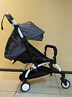 Детская коляска YOYA 175 Graphite, 3 ярусный капор, легкая, складная, компактная Йойа графитовый