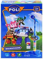 Детский микрофон на стойке Робокар Поли 8026A