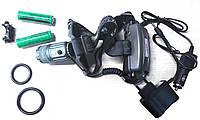 Светодиодный фонарь велосипедный + налобный Police 30000W 2-25 с автофокусировкой в кейсе