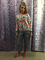 Трикотажный спортивный костюм для девочки подростка 134 см, фото 1