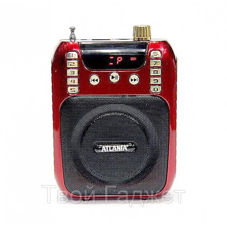 Радиоприемник ATLANFA с USB, SD, FM, громкоговорпителем и диктофоном AT-R30