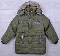 Куртка детская демисезонная Premium#S113 для мальчиков. 7-9 лет. ТОливковая. Оптом.