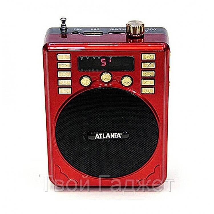 Радиоприемник ATLANFA с USB, SD, FM, громкоговорпителем и диктофоном AT-R31