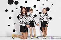 """Детские стильные шорты авторской коллекции 1501-22 """"Креп Пояс Горох"""""""