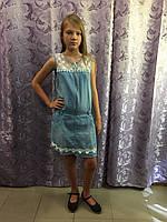 Джинсовый сарафан для девочки 10,12,14 л, фото 1