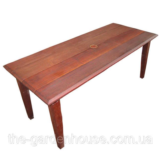 Прямоугольный садовый стол Герон из дерева мербау 180х97 см